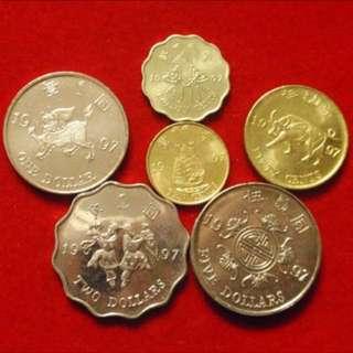 香港1997年香港銭幣