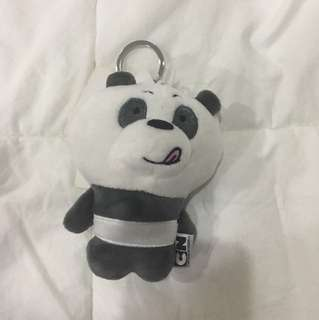 We Bare Bears Panpan Head Keychain (A)