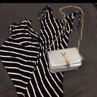 Black Maxidress(stripes)