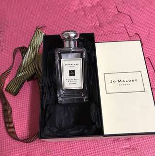 英國帶回Jo Malone English Pear and Freesia 香水100ml 購買自史坦特機場
