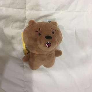 We Bare Bears Grizzly Head Keychain (B)