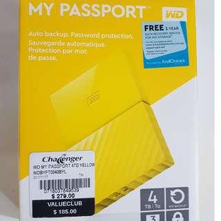 BN: WD MY PASSPORT (YELLOW) 4TB
