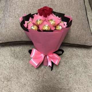 Ferrero & rose bouquet