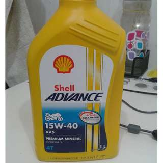 Shell Advance AX5 15w-40 Motorcycle Engine Oil. 1L