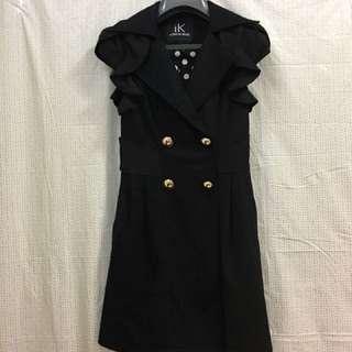 iK ICONE DE MODE 黑色露肩黑色蕾絲小洋裝