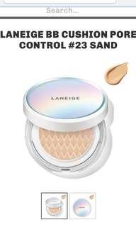 Laneige BB Cushion Pore Control #23 Sand Beige SPF50+ PA+++