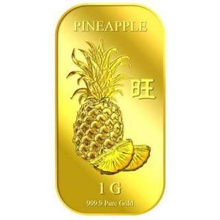 Puregold Sg 99.9 Fine Gold Pineapple