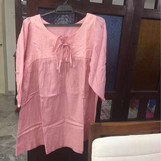 #15Off Promotion for this week-Ladies Cotton Peach Maternity Blouse