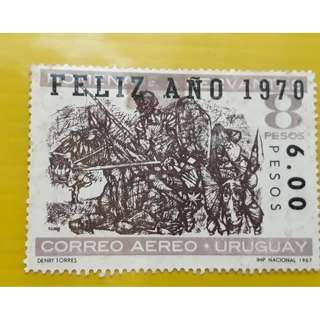 PARAGUAY 1967 Sucharged Stamp