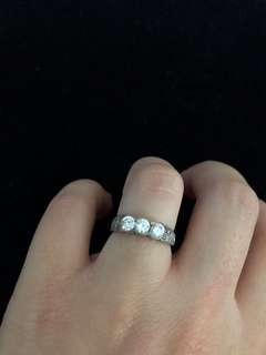 Sterling silver ring size 7-7.5