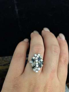 Antique Sterling silver ring size 7-7.5