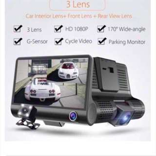 Car Camera -3 Lens (Front, Rear & Inside), Night Vision, Motion Detection, Auto Continuous Recording