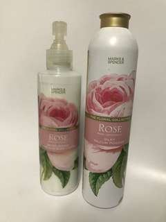 M&S Floral Collection Body Lotion & Powder