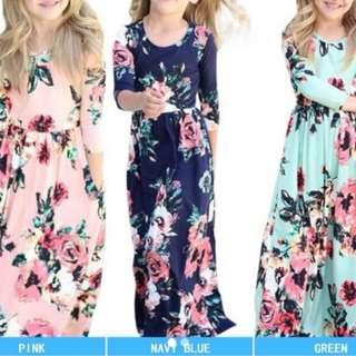 Girl dress navy blue