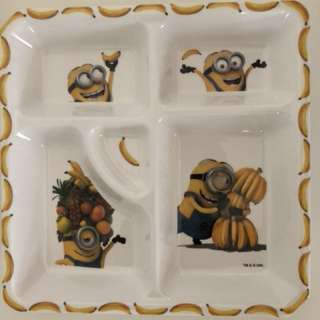 Minion Divided Plates for kids