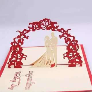 3D pop up card wedding card