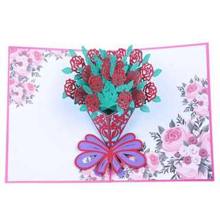 Flower 3D pop up Mother's Day card