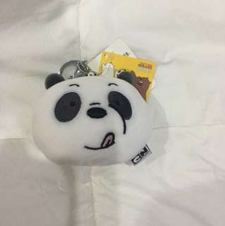 We Bare Bears Panpan Face Keychain (B)