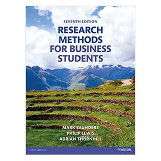 Research Methods for Business Students 7th Edition BY Mark N.K. Saunders  (Author), Philip Lewis (Author), Adrian Thornhill (Author)
