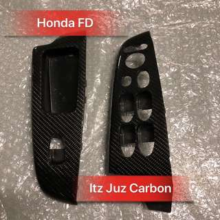Honda FD Carbon window panel