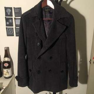 🚚 韓製 韓國製大衣 羊毛外套 二手