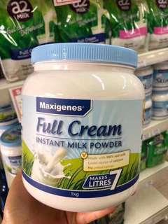 澳洲 🇦🇺藍胖子美可卓高鈣全脂奶粉1kg裝