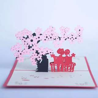 3D pop up card for couples valentines anniversary card