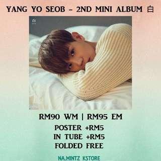 PRE-ORDER YANG YO SEOB - 2ND MINI ALBUM 白