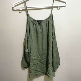 Moss Green Offshoulder