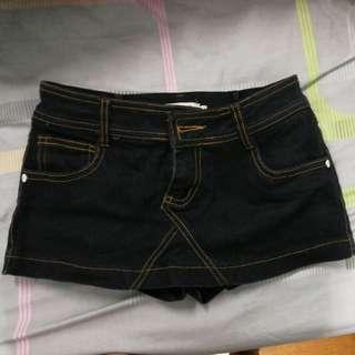 Mini black jeans skirt
