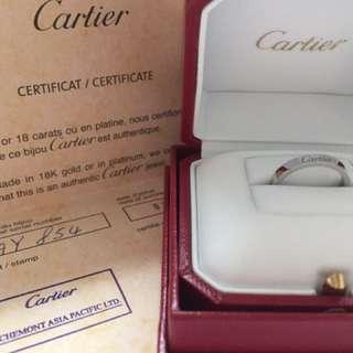 Cartier 戒指52size PT950