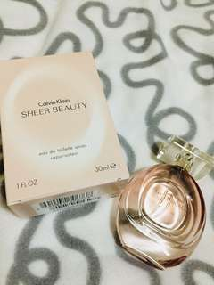 Sheer Beauty by Calvin Klein. 30ml. Authentic. Barely used. Meet-ups only in Cebu City.