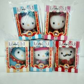 McDonald's Hello Kitty Circus of Life Plushies 2014 (Set of 5)