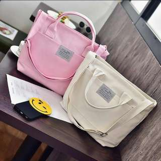 Brand New Canvas Bag Pink Colour