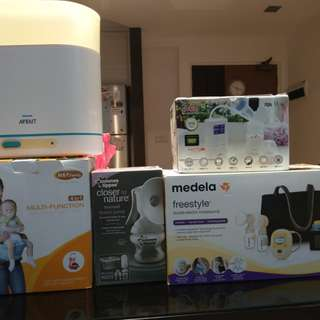 Breast Pump, Sterilizer and Carrier