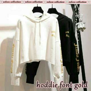 Hoodie Font Gold SM