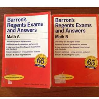 Barron's Regenets Exams and Answers: Math A and Math B