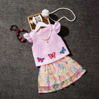 Butterfly Girl 2pcs Set