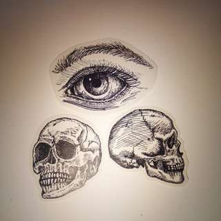 skull and eye stickers