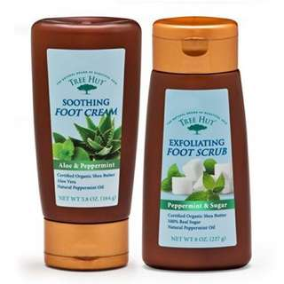 Tree Hut Soothing Foot Cream, Aloe and Peppermint