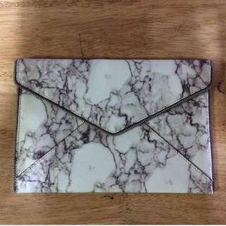 Authentic Rebecca Minkoff Leo Clutch Marble Print