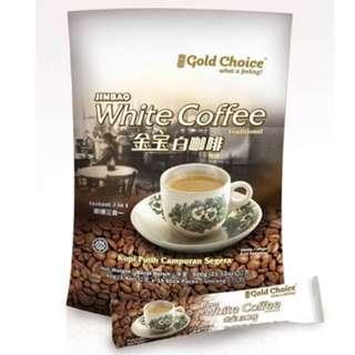 金寶頂級特濃白咖啡15包 cafe 沖泡式飲品 飲料 全新 即溶咖啡