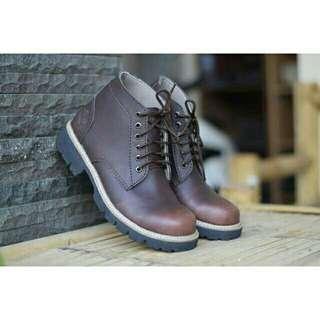 Sepatu pria timberland safety boots kulit low