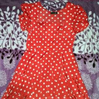 Polka red dress
