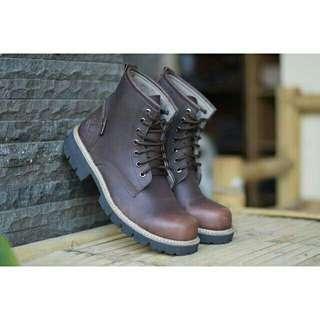 Sepatu pria timberland safety boots kulit high