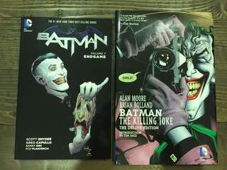 "BATMAN / JOKER comic books - Snyder / Capullo Vol. 7 ""Endgame"" & Moore / Bolland ""The Killing Joke"""