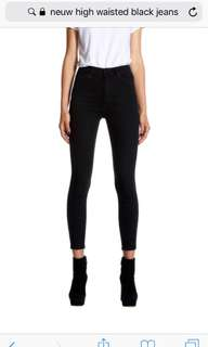 neuw black denim jeans