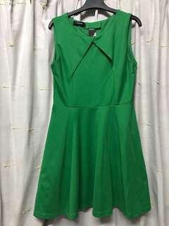 Green skater's dress