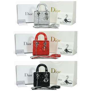 Dior My Lady Patent Mini Chain AP6621-1
