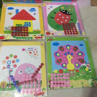 Button art and craft (kids goodie bag)